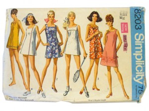 Simplicity Sewing Pattern 8203, 1969.