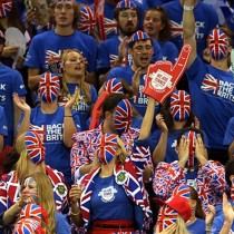 GB supporters at Davis Cup semi final match